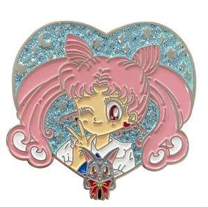 New Sailor Moon Usagi Tsukuba Luna pin badge
